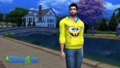 Male SpongeBob Hoodie by Mr. David Veiga at The Sims 4 ID via Sims 4 Updates