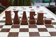 Congo Squares Bench: A Seat and Chess Board in One