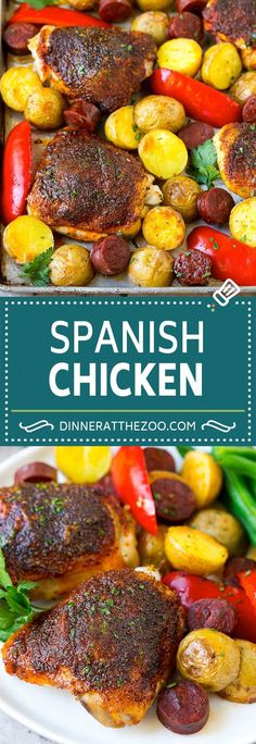 Frugal Food Items - How To Prepare Dinner And Luxuriate In Delightful Meals Without Having Shelling Out A Fortune Spanish Chicken Recipe Sheet Pan Meal Chicken And Potatoes Walnut Chicken Recipe, Best Chicken Recipes, Turkey Recipes, Duck Recipes, Cashew Chicken, Chicken Potatoes, Sausage Potatoes, Spanish Chicken, Spanish Food