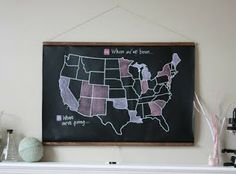 Framing This For My Kitchenso Cute Crafts Pinterest Food - Us map of states i ve been to