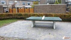 Pingpongtafel Groen bij Wageningen, thv Rietveldlaan 33  in Wageningen