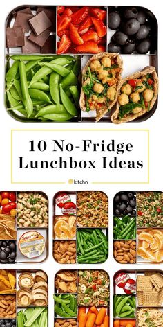 Easy, Healthy No Refrigeration Needed Lunch Ideas. Need recipes for lunches and meals you can try packing to take to work at the office, or for kids to take to school? You don't need a fridge, refrigerator, or ice pack. Great for camping too.