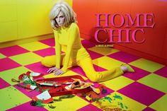 Title: Home Chic Magazine: Vogue Italia October 2011 Model: Ruby Aldridge Photographer: Miles Aldridge Stylist: Cathy Kasterine David Lachapelle, Guy Bourdin, Ruby Aldridge, Miles Aldridge, Martin Schoeller, Tim Walker, Richard Avedon, Mario Sorrenti, Somerset
