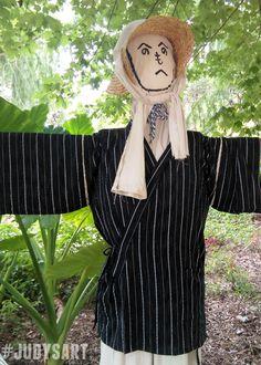 Fall October DIY Zen Garden Scarecrow