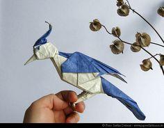 Origami Blue Jay