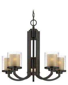 Dolan Designs 2950 Horizon 5 Light Chandelier Bolivian Bronze Indoor Lighting Chandeliers