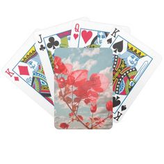 Cute flowers print playing cards by #dflcprints