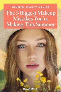 The 5 Biggest Makeup Mistakes You're Making This Summer | Here are the tips and tricks of a celebrity makeup artist that will have your makeup looking fresh and glowy throughout the day. Beat the summer heat and humidity with these professional summer beauty hacks. #beautytips #realsimple #skincare #makeuphacks #bestmakeup Beauty Advice, Beauty Hacks, Summer Beauty Tips, Real Simple Magazine, Makeup Mistakes, Summer Makeup Looks, Celebrity Makeup, Summer Heat, Makeup Yourself