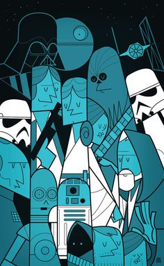 Movie themed illustrations by Ale Giorgini Star Wars