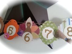 12 month picture banner newborn to one year by ThePinkPapermill, $19.50