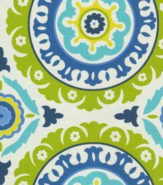 Home Decor 8''x 8'' Fabric Swatch Fabric-Waverly Solar Flair Lime & Indigo at Joann.com