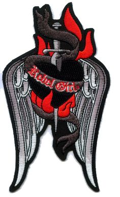 $6.95 Wings Down embroidered patch by Rebel Girl