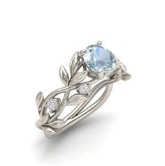 Hey, I found this really awesome Etsy listing at https://www.etsy.com/listing/463845533/leaf-engagement-ring-white-gold