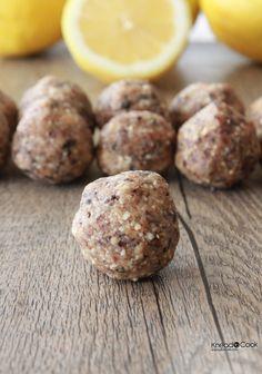 Lemon and Cherry Protein Energy Balls.