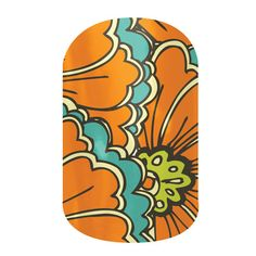 Jamberry Nail Wraps. You see flowers, I see Gulf livery.