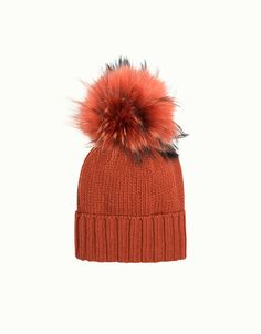 dd558084070 Orange Cashmere Beanie made in Italy by Inverni. Available on Centro39.com  Free Shipping in the U.S.  winter  hat  italian  fashion  online  boutique    ...