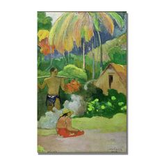 """Found it at Wayfair - """"Landscape in Tahiti"""" by Paul Gauguin Painting Print on Canvas"""