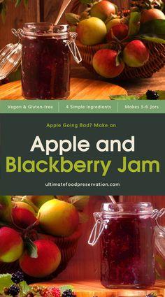 Blackberry And Apple Jam, Blackberry Jam Recipes, Strawberry Jam Recipe, Easy Jam Recipe, Grape Jam, Apple Jelly, Fruit Jam, How To Make Jam, Jam And Jelly