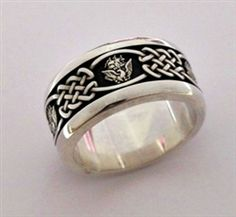 us navy celtic sterling silver wedding band - Military Wedding Rings
