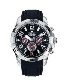Reloj de hombre Viceroy de silicona negra