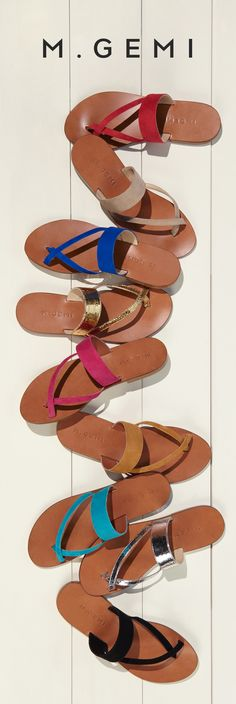 One of our best-selling sandals is back! Choose between seven shades of suede, or a distressed metallic leather that develops a unique finish with age.