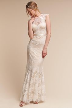 scalloped bands of vintage-inspired lace | Suri Gown from BHLDN