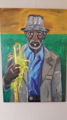 Afrikaanse man met palmtak.