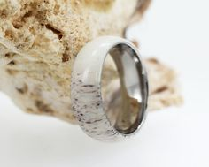 Antler Jewelry / Overlay on a Titanium Ring / by jewelrybyjohan, $249.00