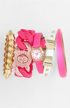 Pink, white, gold