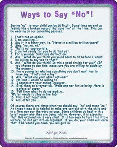 "Ways to Say ""No""!"