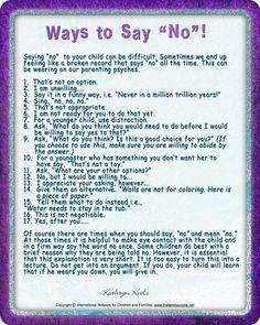 "Ways to Say ""No""!"