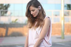 Pale pink + ear cuff