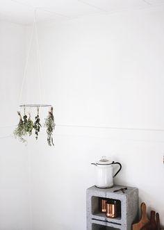 upknorth: scandinavian mindset   diy herb drying rack.photo by...
