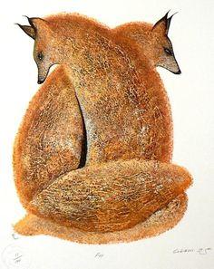 Fox - Contemporary Canadian Native, Inuit  Aboriginal Art -...