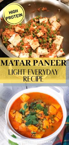 My kids simply love matar-paneer (Peas with Indian cottage cheese in light tomato gravy). In fact it seems like all south-asian kids love matar-paneer. I dont mind if they eat it for both lunch and Vegetarian One Pot Meals, Vegetarian Curry, Vegetarian Recipes Easy, Indian Food Recipes, Healthy Recipes, Free Recipes, Paneer Recipes, Everyday Food, Vegetable Dishes