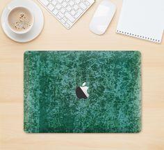 "The Emerald Green Choppy Pattern Skin Kit for the 12"" Apple MacBook"