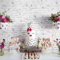 #DessertTablescape Kate Spade #inspired Bridal Shower #sweetandco_