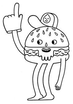 happy burger by JON BOAM, via Flickr