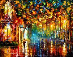 children walking in rain images | Walking In The Rain - trees, man, colorful, walk, street, woman ...
