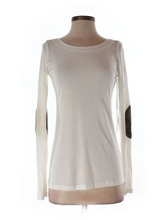 Maggie Ward Long Sleeve Top for $42.99 at thredUP -- ivory long sleeve tee with elbow patches