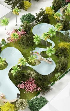 Craziest rooftop pool ever: 16 Of The Year's Coolest Houses (And One Really Ugly One) Landscape Architecture Model, Landscape Model, Landscape Design Plans, Space Architecture, Sustainable Architecture, Urban Landscape, Amazing Architecture, Plaza Design, Public Space Design