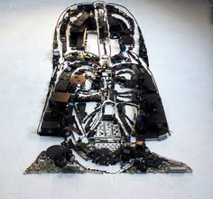 Portraits Made from Old Instruments and Scrap Objects by Christian Pierini Instruments, Darth Vader, Celebrity Portraits, Creations, Scrap, Christian, Celebrities, Design, Star Wars