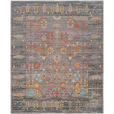 Safavieh Valencia Gray/Multi 8 ft. x 10 ft. Area Rug-VAL108C-8 - The Home Depot