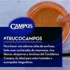 Si te apetece probar una #salsa diferente y casera, este nuevo #TrucoCampos es para ti. Salsa de anchoas y alcaparras.