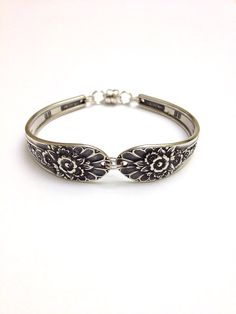 Vintage Silver Spoon Bracelet circa 1953 by CypressStudio on Etsy