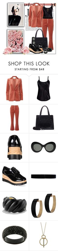 """""""Crushing on Velvet_Suited with Style"""" by msmith801 ❤ liked on Polyvore featuring Frame, Ayten Gasson, Miu Miu, Elizabeth and James, Wanted, Jil Sander, David Yurman, Zimmermann and Pilgrim"""