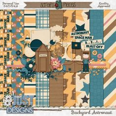 Backyard Astronaut by Just For Fun Designs is perfect to scrap those great backyard adventures into space.