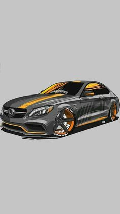 Front cover level of detail - carros - Auto Mercedes Auto, Carros Bmw, Jdm Wallpaper, Street Racing Cars, Car Illustration, Car Posters, Car Drawings, Car Sketch, Automotive Art