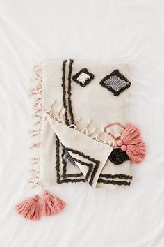 Shop Diamond Tufted Throw Blanket at Urban Outfitters today. Handmade Gifts For Her, Unique Gifts For Her, Gifts For Wife, Urban Outfitters, Baby Room Diy, Modern Bohemian, Diamond Pattern, Throw Pillows, Throw Blankets
