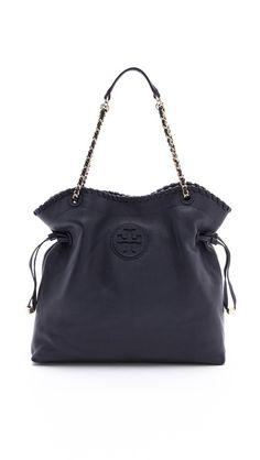 Tory Burch Marion Slouchy Tote $595.00 in tan